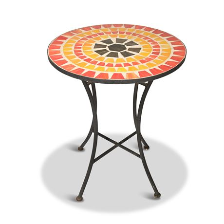 Stained Glass Mosaic Patio Table