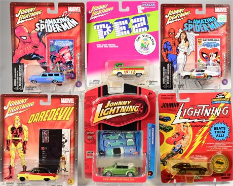 (6) Johnny Lightning Collectible Cars