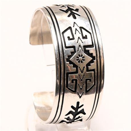 Tom Billy Navajo Sterling Silver Cuff Bracelet