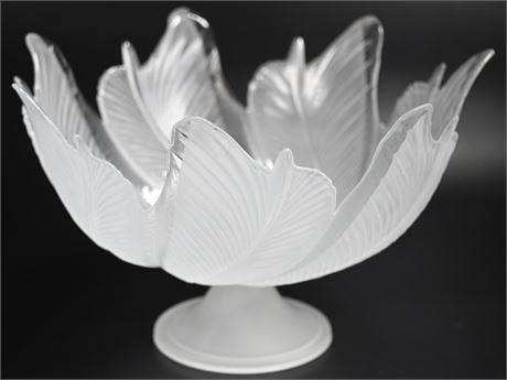 Frosted Glass Centerpiece Bowl