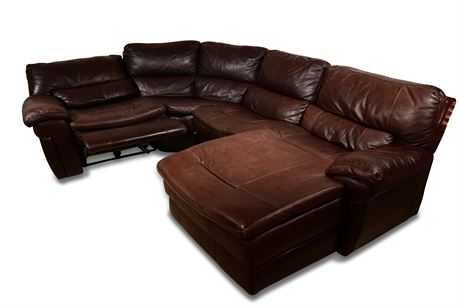 Luxurious Leather Sectional