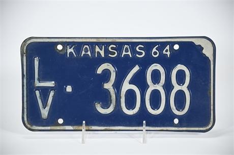 64  Kansas License Plate