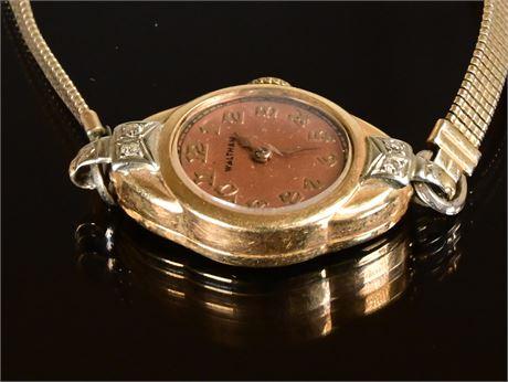Waltham 14k Ladies Watch and Diamond
