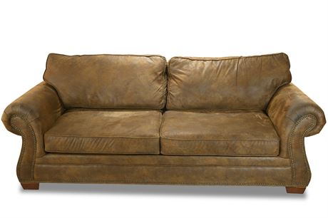 Micro-suede Nailhead Sofa
