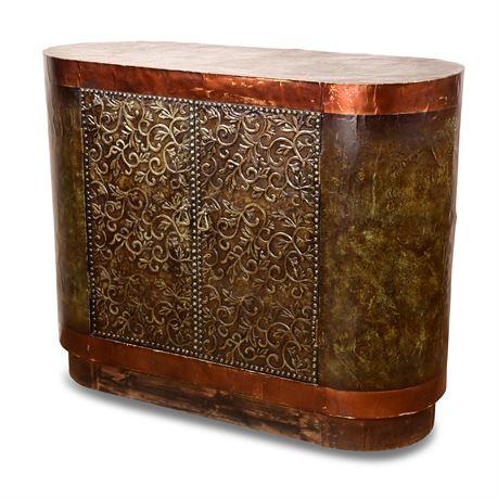 Copper Clad Console Cabinet