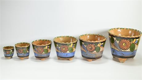 1930's Mexican Nesting Planters