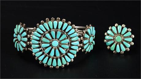 ZUNI Petit Point Bracelet and Ring set