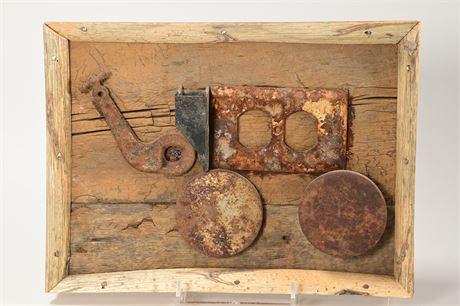 Rusty Found Object Art
