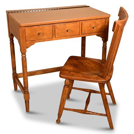 Ethan Allen Vanity/Desk with Chair