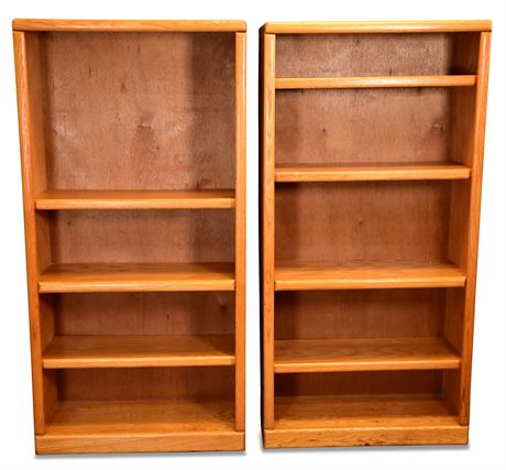 Pair of Oak Bookcases