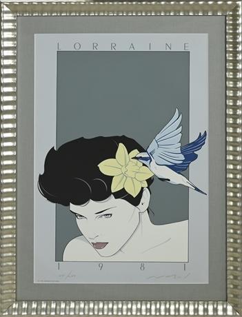 """Lorraine"" Serigraph by Patrick Nagel"