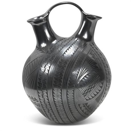 Paty Rodriguez Mata Ortiz Double Spouted Vase