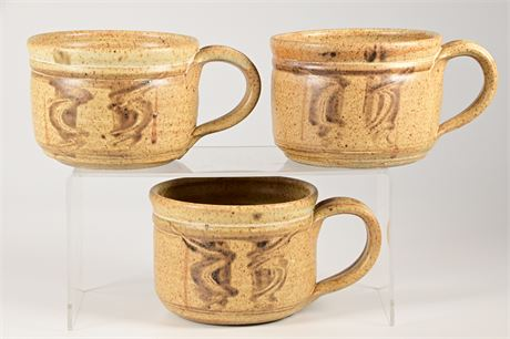 Dick Masterson Stoneware Soup Bowls With Handles
