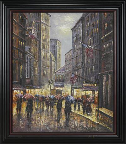Cityscape Oil on Canvas