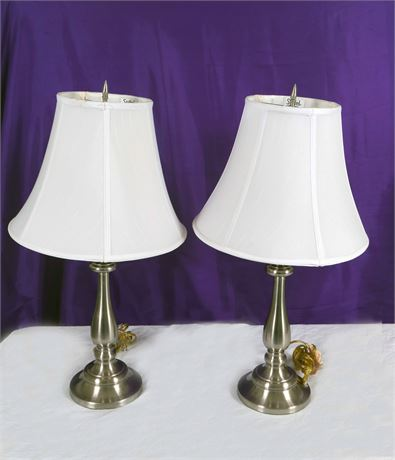 2 Lamps with White Shade