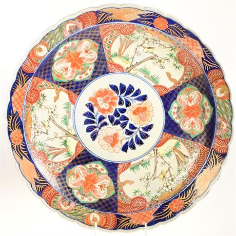 Large Antique Japanese Bowl Yamatoku Imari