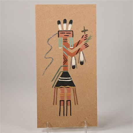 "Navajo Sand Painting ""Yei Dancer"" By Nettie Peters"