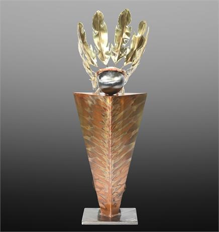 Greg Gowen Indian Chief Sculpture