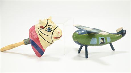 Vintage Mexican Folk Art Toys