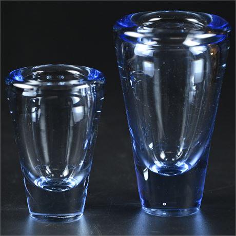 Pair Holmegaard Bud Vases