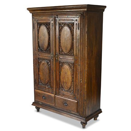 Rustic Carved Cupboard