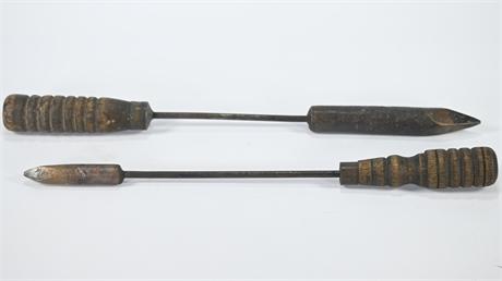 Pair Antique Soldering Irons