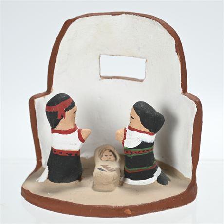 Pottery Nativity