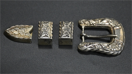 Sterling Buckle and Belt Parts
