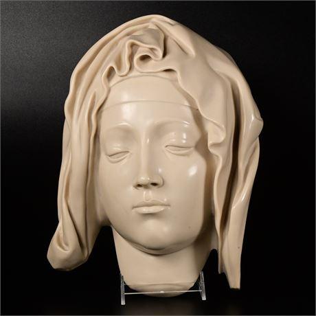 Michelangelo Pieta Head of the Virgin Mary