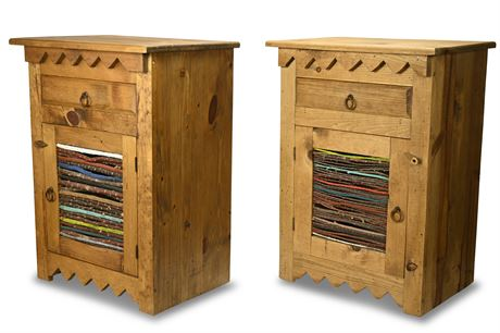 Colorful Rustic Side Tables