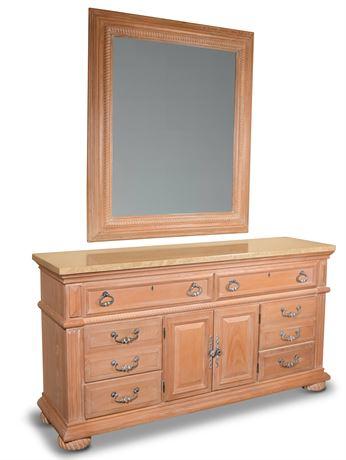 American Drew Dresser and Mirror