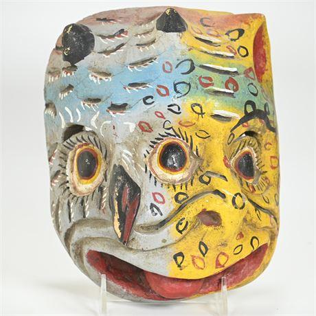 Vintage Mexican Folk Art Double Face Mask
