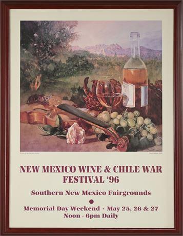 Fred Chilton Wine Festival Poster