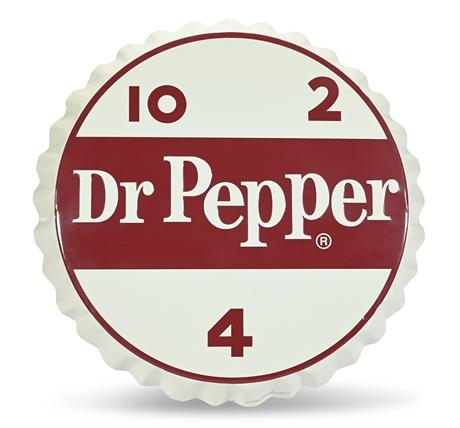 "Limited Edition Dr. Pepper 10 2 4 Bottle Cap 25"" Embossed Metal Sign"