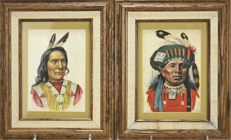 American Indian Portraits Large Tobacco Silks
