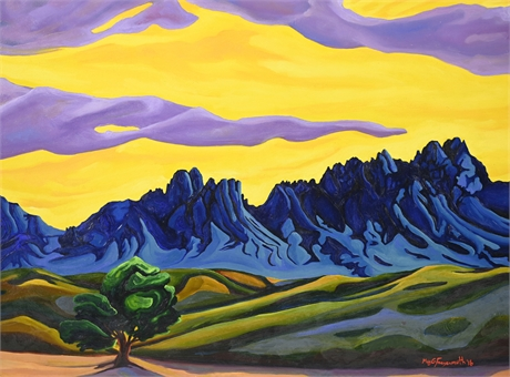 Meg Freyermuth Organ Mountains Oil on Panel