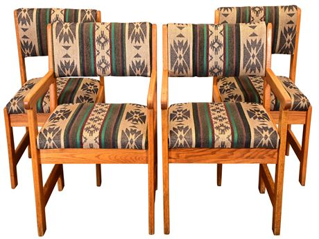 (4) Solid Oak Chairs
