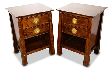 Pair of Asian Themed Nightstands