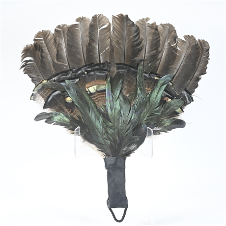 Artist Crafted Feather Fan