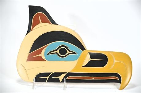 "Tlingit Wall Carving ""Seahawk"""