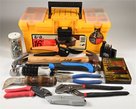 Tool Box with Miscellaneous Tools