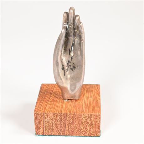 Mid-Century Sterling Hand Sculpture