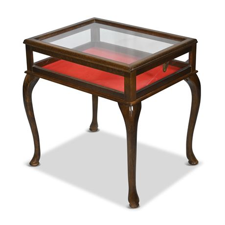 Side Table Display Case