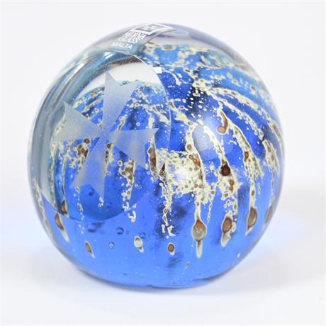 Vintage MDINA Art Glass Paperweight