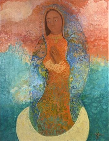 Original Virgin de Guadalupe Painting