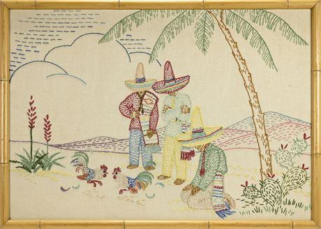 Embroidery Mexican Folk Art
