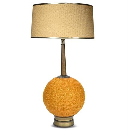 Vintage Spaghetti Orange Spun Table Lamp