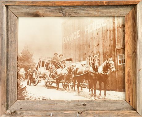 Western Stage Coach Framed Photo
