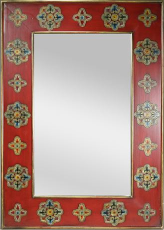 Embossed Lacquered Mirror