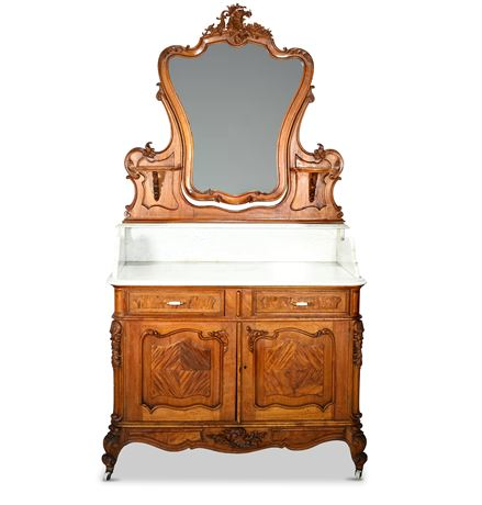 Louis XV Rococo Marble Topped Washstand